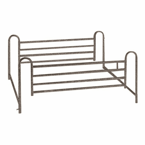 Drive Standard Telescoping Full Length Bed Rails with Brown Vein Finish