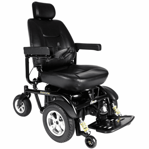 "Drive Trident Front Wheel Drive Power Wheelchair, 18"" Seat"