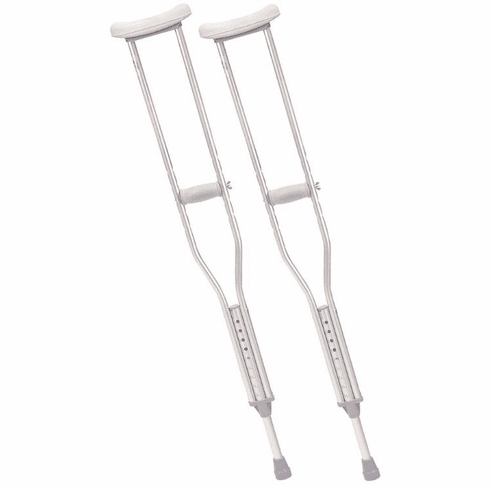 Drive Walking Crutches with Underarm Pad and Handgrip, Adult, 1 Pair