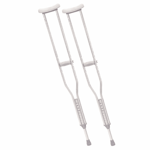 Drive Walking Crutches with Underarm Pad and Handgrip, Tall Adult, 1 Pair