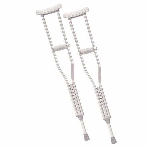 Drive Walking Crutches with Underarm Pad and Handgrip, Youth, 1 Pair