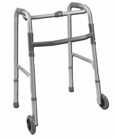Folding Walkers with Wheels