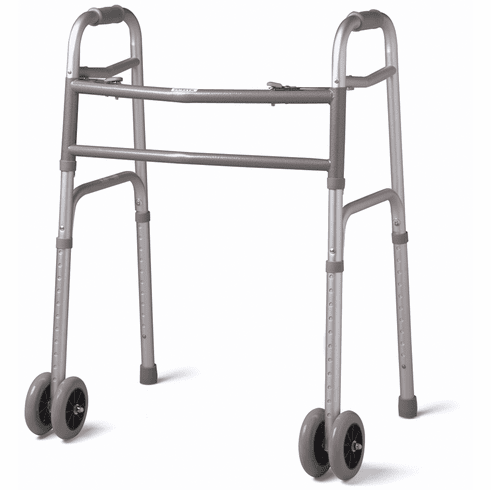 """Guardian Bariatric Walker, 2 Button with 5"""" Wheels, Extra Wide, 500 lb capacity"""