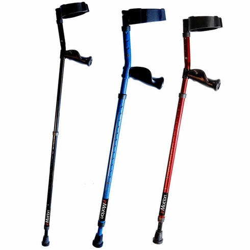 "In-Motion Long Term Ergonomic Spring-Assisted Forearm Crutch Short Fits 3'6"" to 4'9"", one pair."