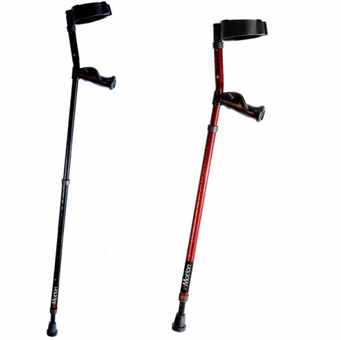 "In-Motion Long Term Ergonomic Spring-Assisted Forearm Crutch Tall Fits 4'10"" to 6'3"", one pair."