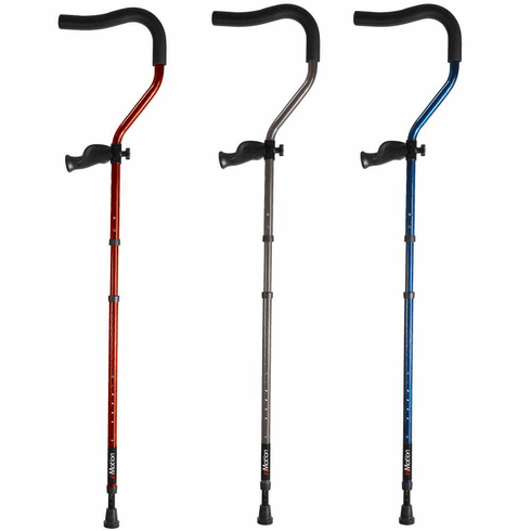 "In-Motion Pro Tall (Fits 5'7"" to 6'10"") Folding Long Term Ergonomic Underarm Spring-Assisted Crutch - One Pair"