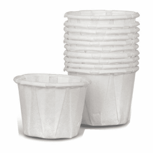 Medline Disposable Paper Souffle Cups, White, 1 OZ - 5000 Each / Case