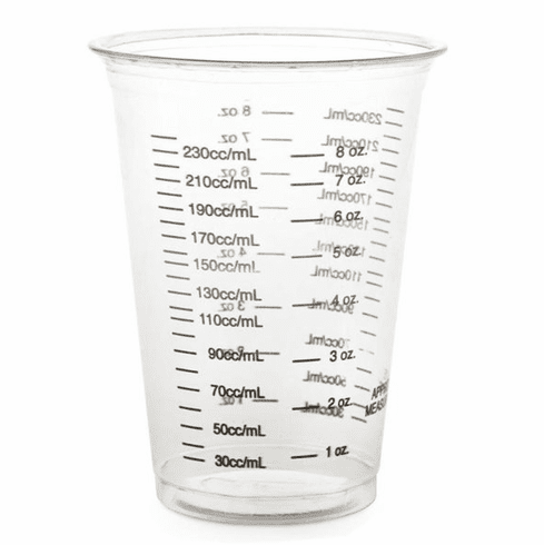 Medline Disposable Plastic Drinking Cups,Clear with Black Graduations,10.000 OZ -1000 Each / Case