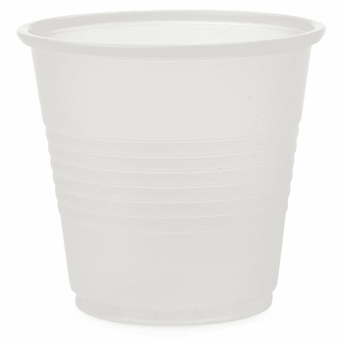 Medline Disposable Plastic Drinking Cups,Translucent, 3 OZ - 2500 Each / Case