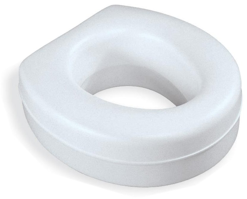 Medline Elevated Toilet Seat 1 Each Each Round Bowl