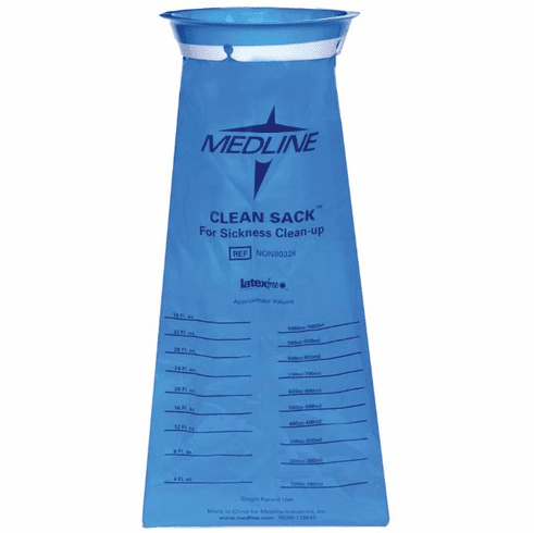 Medline Emesis Bags,Blue,36.000 OZ -144 Each / Gross