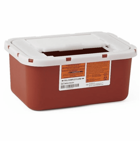 Medline Multipurpose Sharps Containers,Red,4.000 QT -32 Each / Case