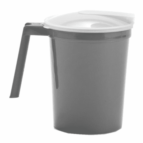 Medline Non-Insulated Plastic Pitchers,Graphite,32.000 OZ -100 Each / Case