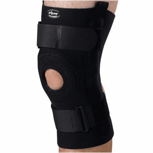 Medline U-Shaped Hinged Knee Supports,Black,X-Large -1 Each / Each