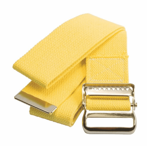 Medline Washable Cotton Material Gait Belts,Yellow -1 Each / Each 54""