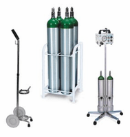 Non-Magnetic MRI Safe Oxygen Carts and Stands