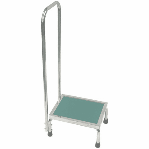 Non-Magnetic MRI Stepstool with Safety Handle