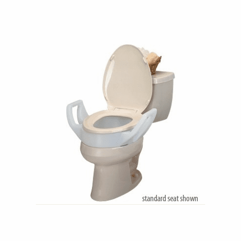 Toilet Seat Riser With Arms.Raised Toilet Seat Riser With Arms Elongated
