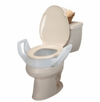 Superb Raised Toilet Seat Riser With Arms Standard Round Bowl Alphanode Cool Chair Designs And Ideas Alphanodeonline