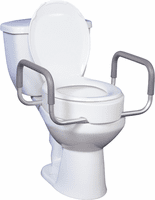 Raised Toilet Seats - Elongated Bowl With Arms