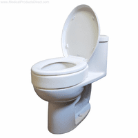 Raised Toilet Seats Elongated Bowl Without Arms