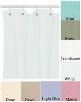 SafeGuard Commercial Duty Shower Curtains (8 Colors)