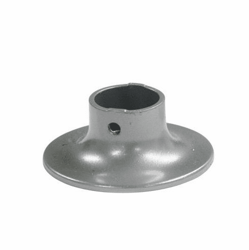 Silver Curtain Track: Ceiling Flange