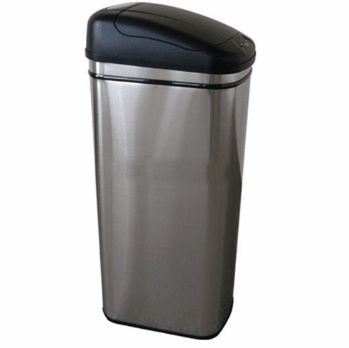 Stainless Steel Trash Can, Infrared Stainless Steel Touchless Automatic  Opening Trash Can - 6 Gallon