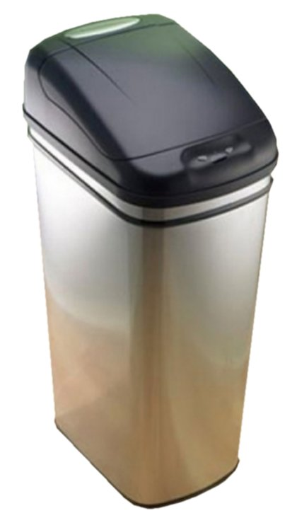 Stainless Steel Trash Can, Infrared Touchless Automatic Opening Stainless  Steel Trash Can - 12.5 Gallon