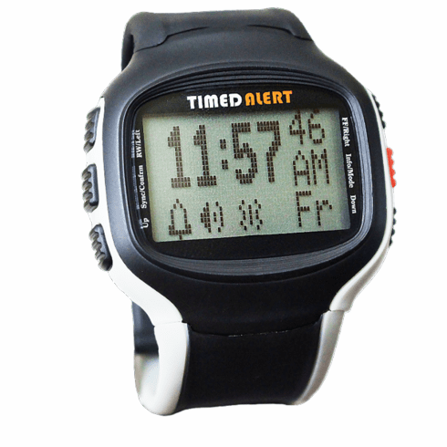 Timed Alert ® Black & Grey Medication Pill Reminder Watch