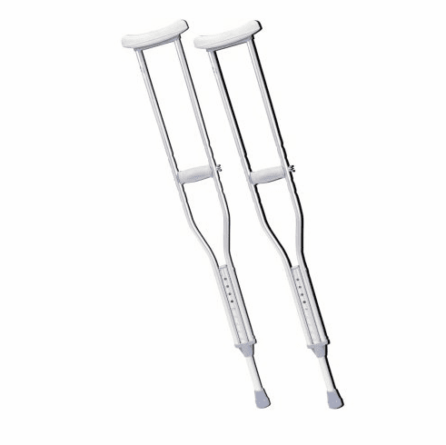 Underarm Aluminum Crutches (Pair) Youth to Tall Adult Sizes
