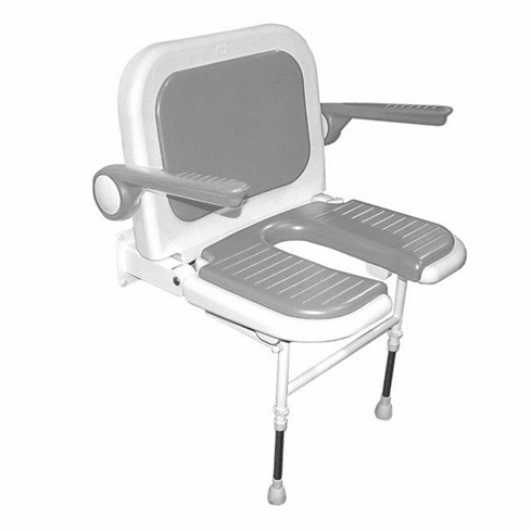 Wall Mounted Shower Seat Akw Wall Mounted Fold Up Wide