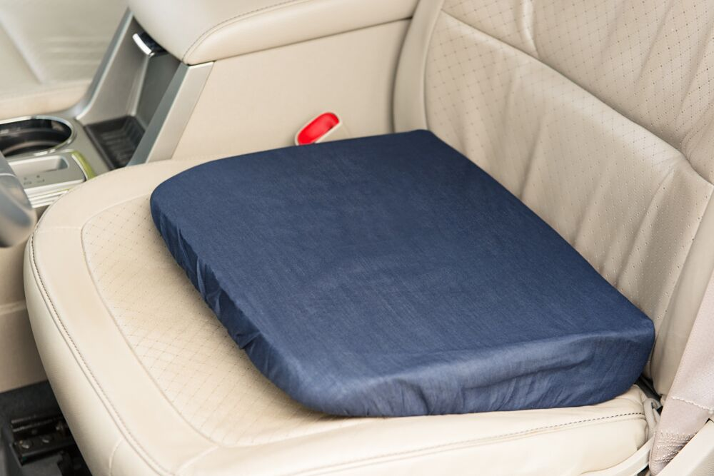 Wedge Seat Riser Memory Foam Cushion For Auto Or Home