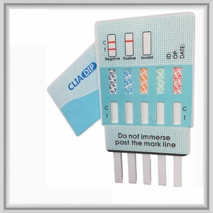 10 Panel Drug Test Dip Card  (AMP, BAR, BZO, COC, mAmp, MTD, OPI, OXY, PCP, THC)