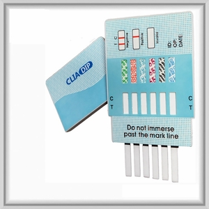 6 Panel Drug Test Urine Dip Card (Case of 25) AMP, BZO, COC, mAMP, OPI, THC