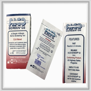 Alco Screen 0.02 Saliva Alcohol Test  DOT Conforming Product