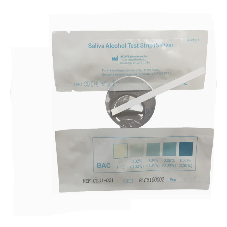 Alcohol Saliva Test Strip Kit - Measures Blood Alcohol Content from 0.02% to 0.30% by Medimpex