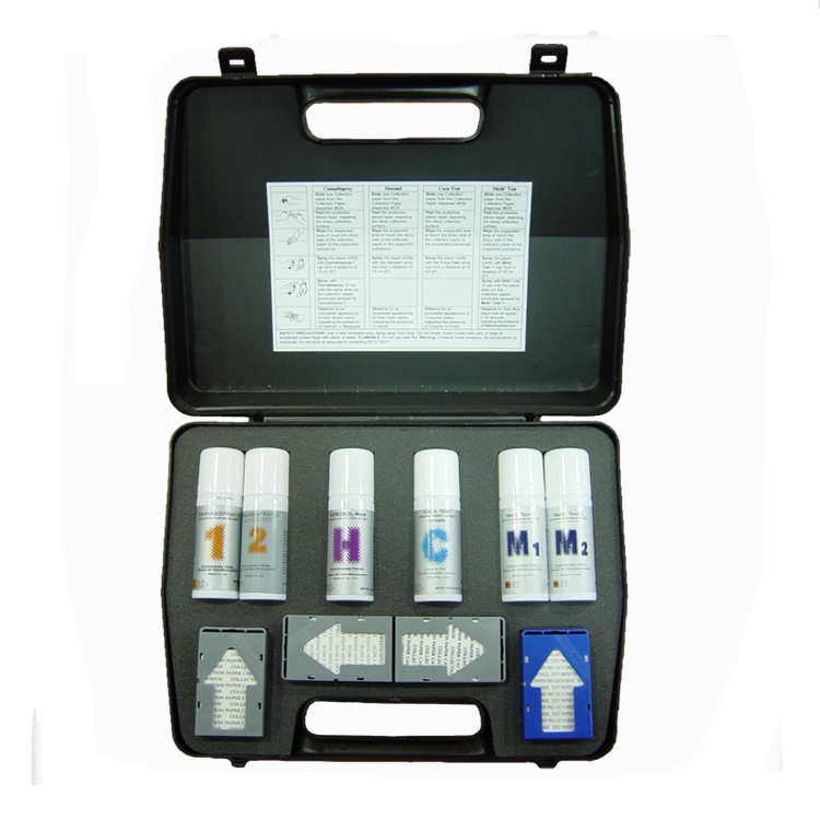 Drug Detection Spray Kit (THC, COC, MET, HER) - 50 tests of each by Medimpex