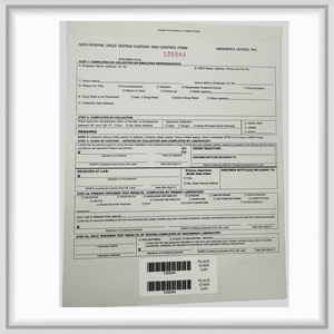 Non-Federal Drug Testing Chain of Custody Control Form