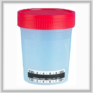 Specimen Collection Cup with Temperature Strip