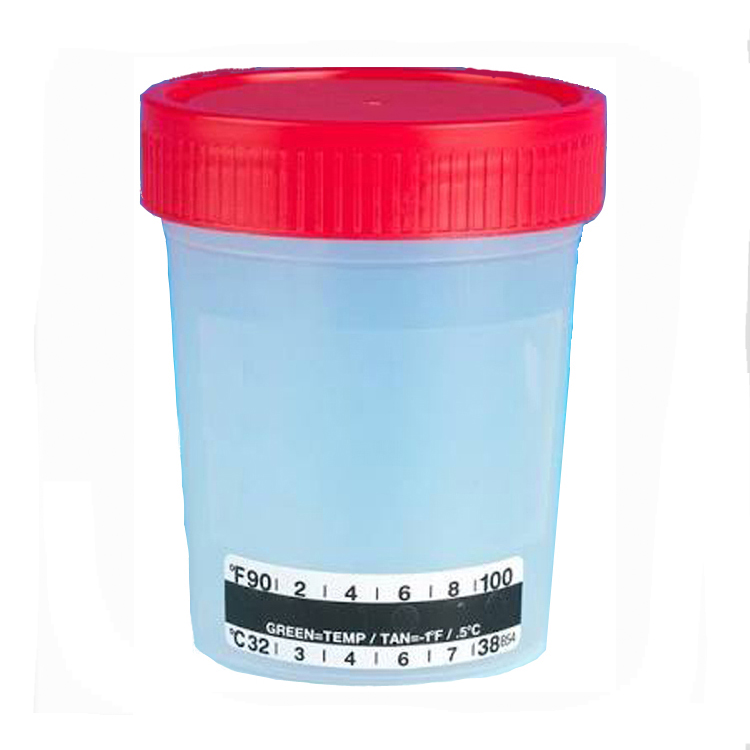 Specimen Collection Cup with Temperature Strip by Medimpex