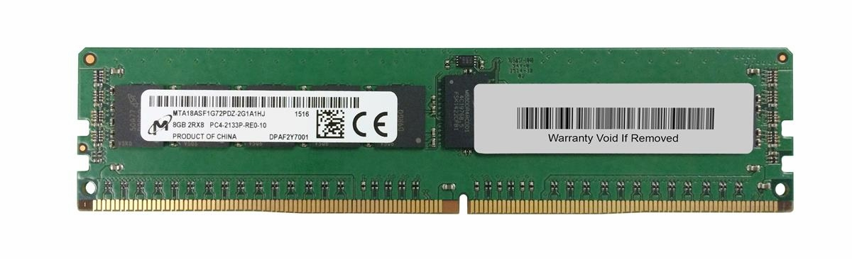 8GB 2133MHz DDR4 PC4-17000 Reg ECC CL15 288-Pin Dual Rank x8 DIMM (P/N 3D-PC42133RD4D815D-8G)