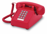 2500 Basic Desk Phone (Red)