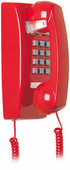 2554 Basic Wall Mount Phone (Red)