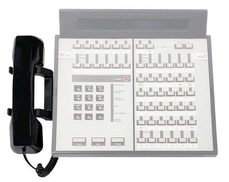 Avaya Callmaster and 302 Console Handset and Cradle Kit - Black