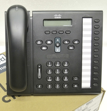 Cisco 6961 IP Phone w/Slimline Handset (CP-6961-CL-K9=)
