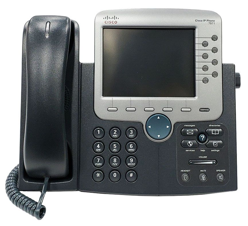 Cisco CP-7971G-GE 8 Button Line VoIP Color LCD Touch Screen Gigabit Phone