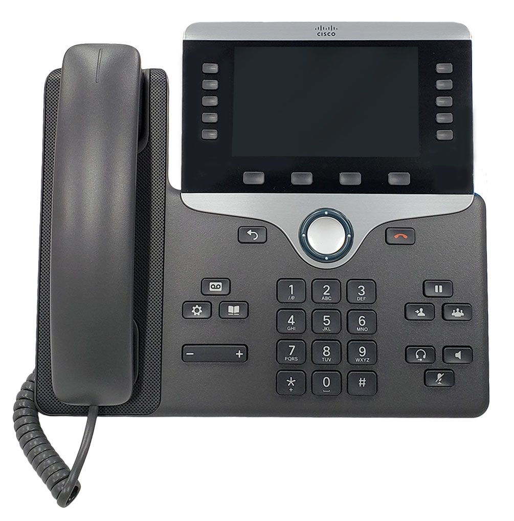 Cisco 8851 IP Phone with Multiplatform Firmware and Power Cube 4 (CP-8851-3PW-NA-K9=)