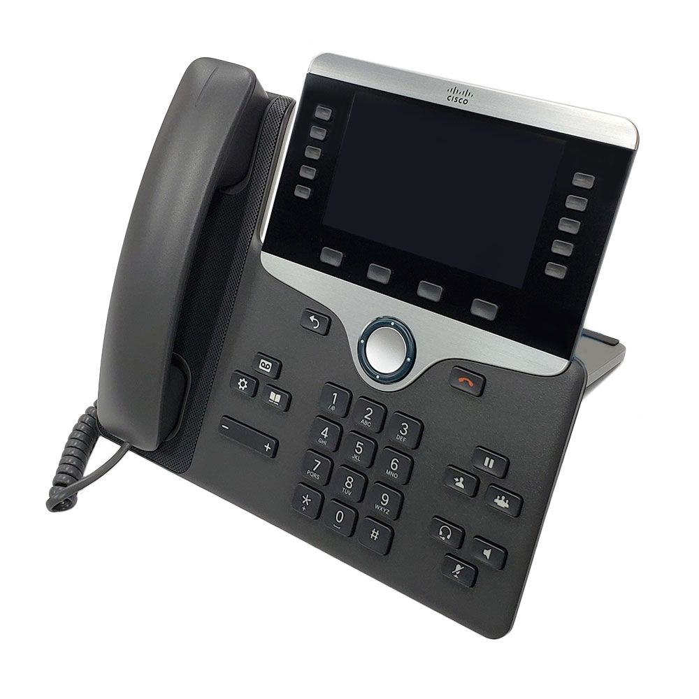 Cisco 8861 IP Phone with Multiplatform Firmware and Power Cube 4 (CP-8861-3PW-NA-K9=)