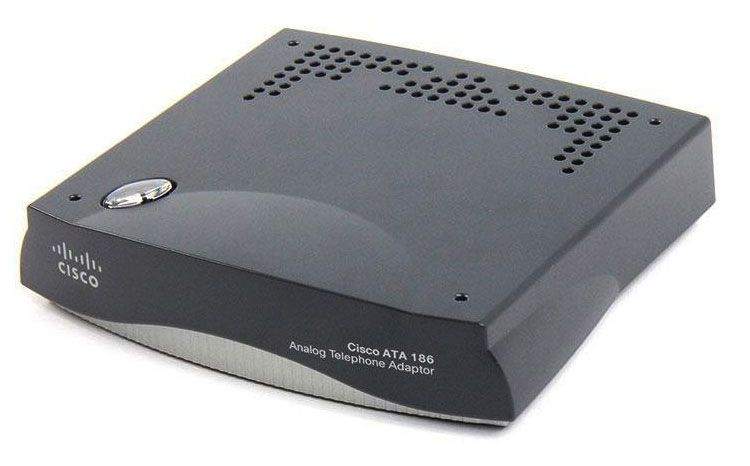 Cisco ATA 186 Analog Telephone Adapter (ATA186-I1-A)